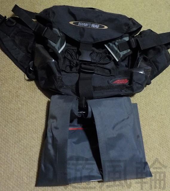 防水のウエストバッグ