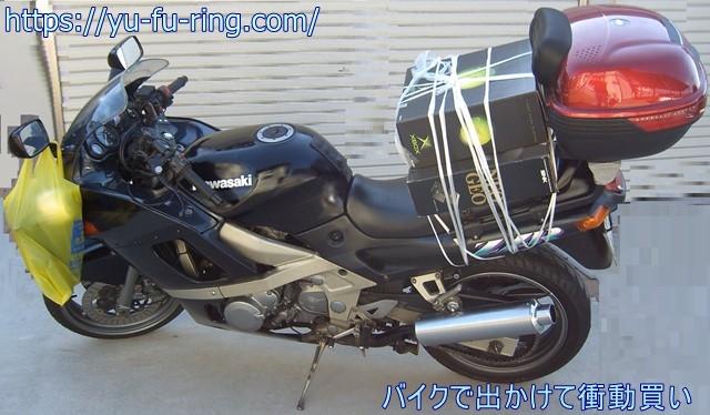 バイクで出かけて衝動買い