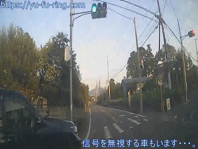 信号を無視する車もいます・・・。