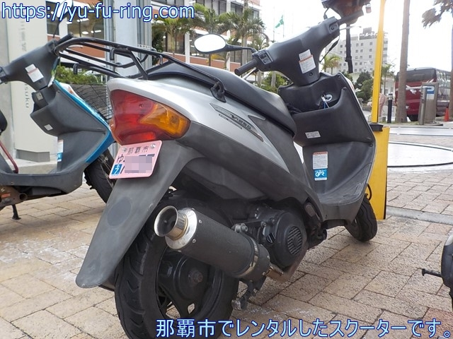 那覇市でレンタルしたスクーターです。